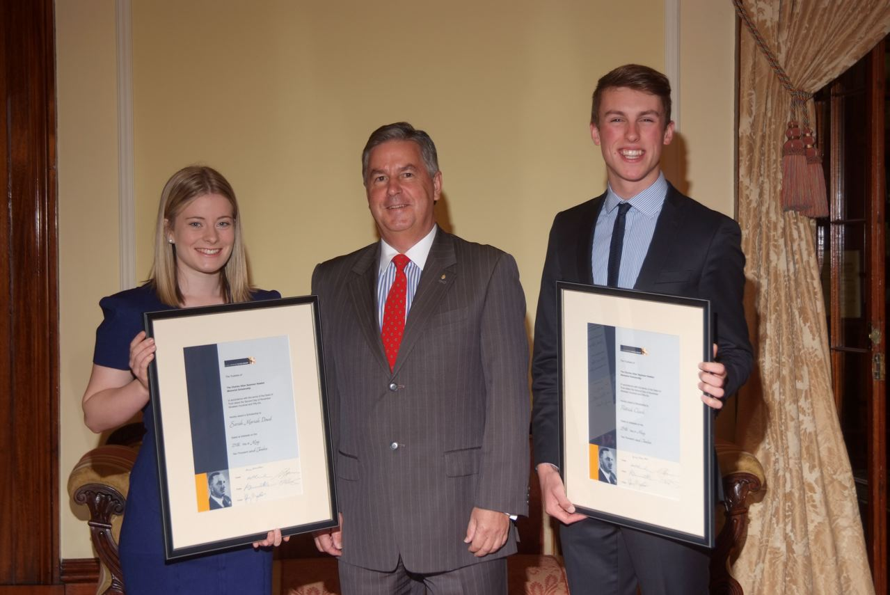 Govener presents 2012 C.A.S Hawker Scholarships